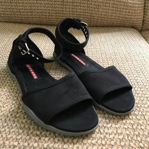 Prada Gabardine Flat Sandals EUC.